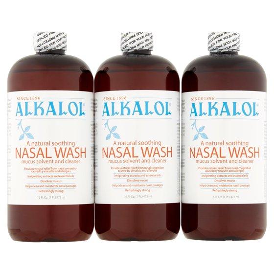 ALKALOL Original Nasal Wash, 16 fl oz, (Pack of 3
