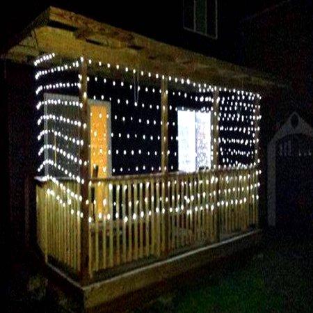 Aleko 150 Led Net Mesh Fairy String Christmas Lights White