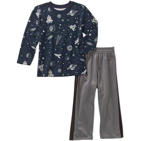 31ac6dbc3033 Garanimals Baby Toddler Boys  Long Sleeve Printed Tee and Tricot ...