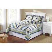 Mainstays Blue Patchwork Quilt